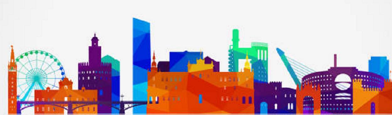 silueta colorida Sevilla